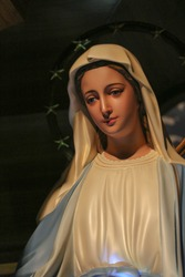 Statue of Our lady of grace virgin Mary