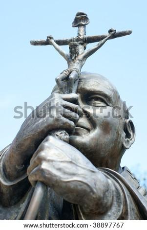 Statue of Pope John Paul 2 in the Dominican Republic