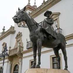 Statue of Princess Maria Mercedes of Bourbon, Seville, Seville Province, Spain