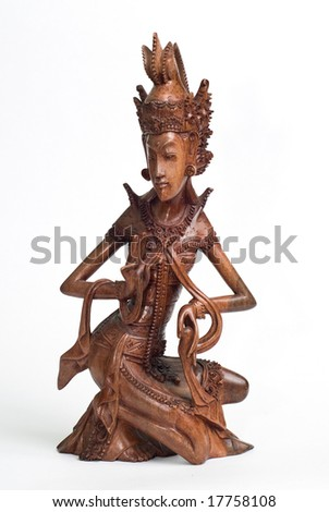 Statue of red wood from Bali Indonesia
