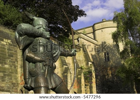 Statue Of Robin Hood, Nottingham Castle, Nottingham U.K.
