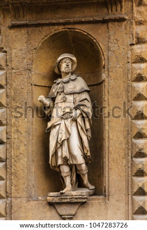 Statue of Saint Alessio in Florence #1047283726