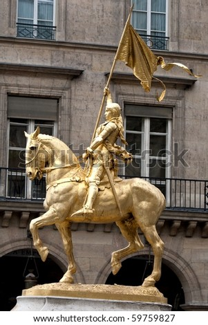 Statue of Saint Joan of Arc in Paris France
