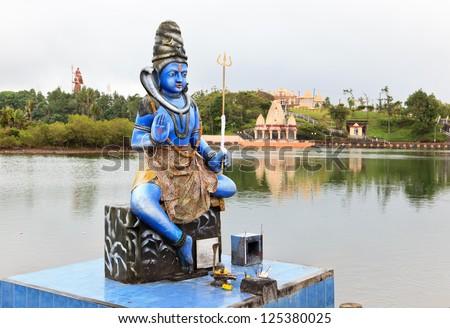 Statue of Shiva in a hindu temple (Grand Basin), Mauritius