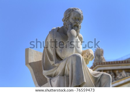 statue of Socrates in the Academy of Athens