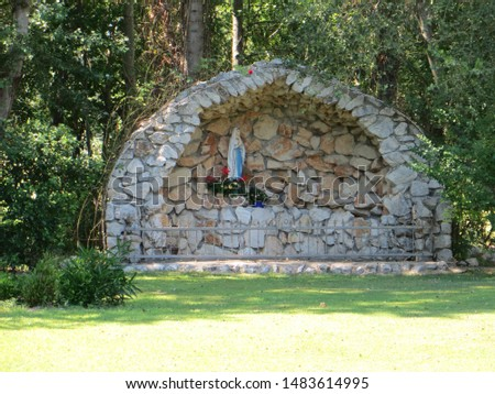 Statue of the Blessed Virgin Mary near the Doljani Border Crossing, Bosnia and Herzegovina.