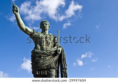 statue of the famous roman emperor Julius Caesar