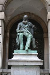 Statue of the Flemish writer Hendrik Conscience, pioneer of Dutch-language literature in Flanders, Antwerp, Belgium