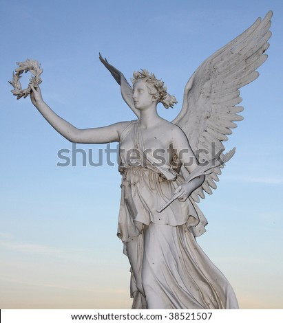 Statue of the goddes Nike - stock photo