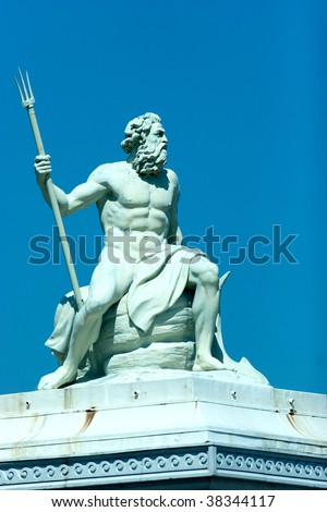 Stock photo shutterstock - Poseidon statue greece ...