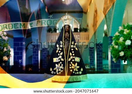 Statue of the image of Our Lady of Aparecida, mother of God, patroness of Brazil Foto stock ©