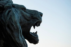 Statue of the Lion of San Marco, symbol of the City of Venice, Italy, Europe