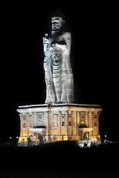 Statue of the poet - Thiruvalluvar (national indian hero), Kanyakumari, India