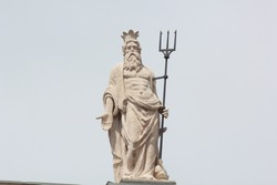 Statue of the Sea God with trident somewhere in Italy