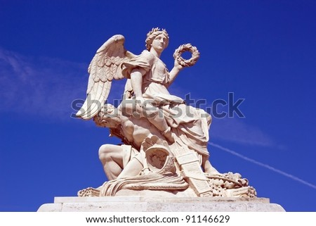 statue of Victory fighting and defeating the enemy