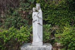 Statue of Virgin Mary in St John Marcus Monastery in Old Town of Byblos, Lebanon, one of the oldest cities in the world