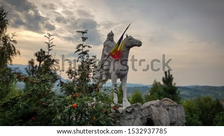 Statue of Vlad Tepes (vlad the impaler) in Bran, Romania.  Сток-фото ©