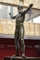 statue of Zeus(or Poseidon) of Artemision.