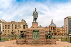 Statue on Church Square in Pretoria Central, capital city of South Africa