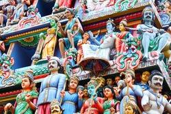 Statue on hindu temple