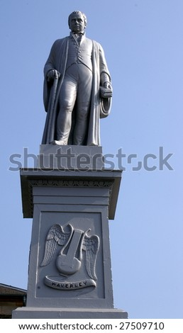 Statue, Sir Walter Scott, Selkirk, Scotland Stock Photo 27509710 ...