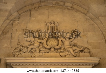 Statues, applied monuments placed on facades and by the squares of European cities #1371442835
