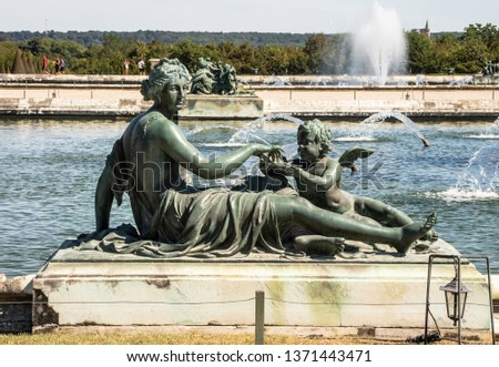 Statues, applied monuments placed on facades and by the squares of European cities #1371443471