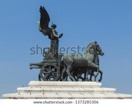 Statues, applied monuments placed on facades and by the squares of European cities #1373285306