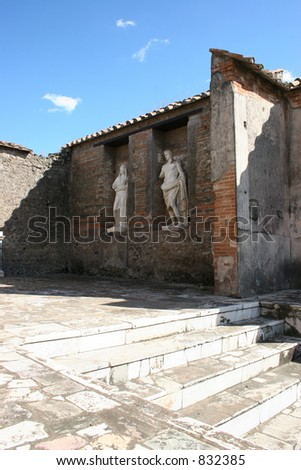 Statues at Pompeii, Italy.