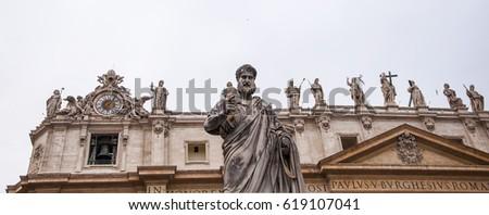 Statues at Saint Peter's Basilica in Vatican City