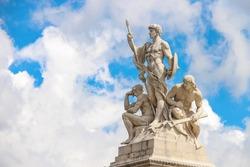 Statues in a monument to Victor Emmanuel II. Piazza Venezia, Rome