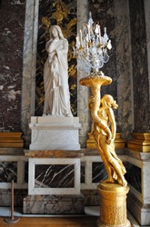 Statues in Versailles Palace