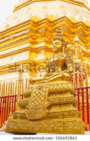 Statues of Buddha in a temple Doi Suthep, Chiang Mai, Thailand