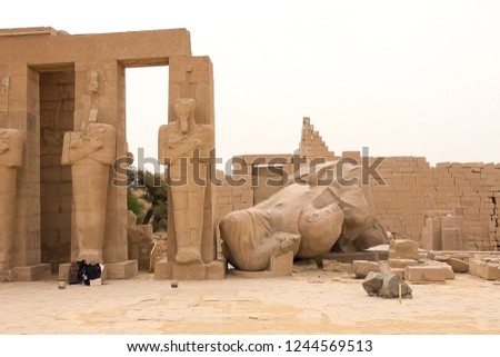 Statues of other Egypt. With the temple monuments megaliths #1244569513