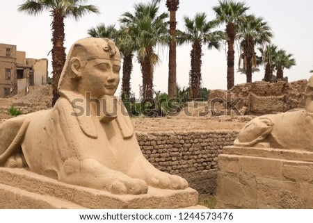 Statues of other Egypt. With the temple monuments megaliths #1244573476