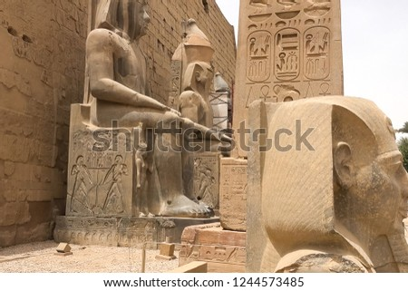 Statues of other Egypt. With the temple monuments megaliths #1244573485