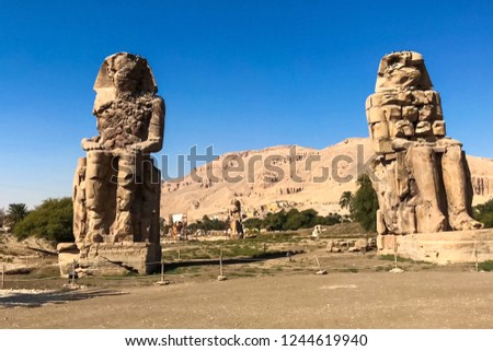 Statues of other Egypt. With the temple monuments megaliths #1244619940
