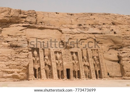 Statues of other Egypt. With the temple monuments megaliths #773473699