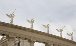 Statues of trumpeting angels at Caesar's Palace Las Vegas, Nevada