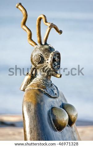 Statues on boardwalk (malecon) Puerto Vallarta, Mexico