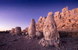 Statues on top of the Nemrut Mountain, in Adiyaman, Turkey