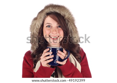 Staying warm with a hot drink