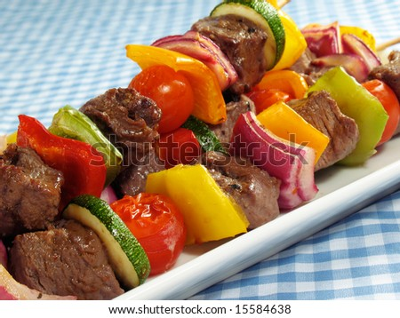 Steak & Vegetable Kebabs