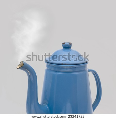 Steam coming out of an old antique coffee can - Madam Blue