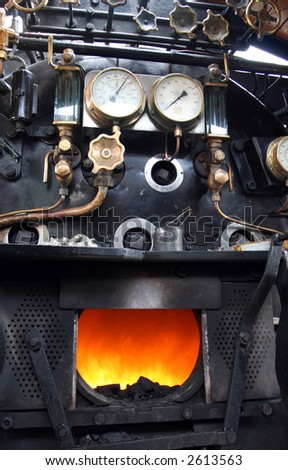 Steam locomotive cockpit