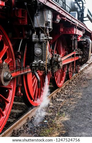 Steam Locomotive, Dampflok, Rod drive of a steam locomotive, Steam Locomotive, Wheels of the steam Locomotive #1247524756