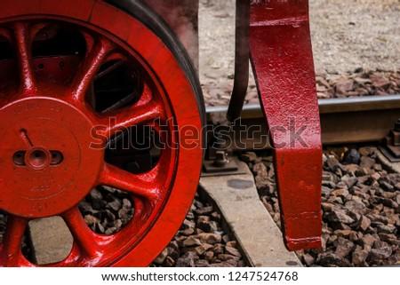 Steam Locomotive, Dampflok, Rod drive of a steam locomotive, Steam Locomotive, Wheels of the steam Locomotive #1247524768