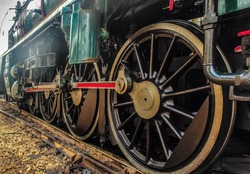steam locomotive wheel