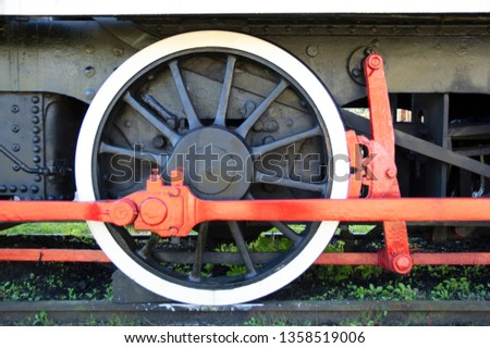 The train wheel  of Steam locomotive Images and Stock Photos
