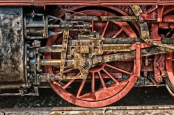 Steam locomotive wheels (HDRi)